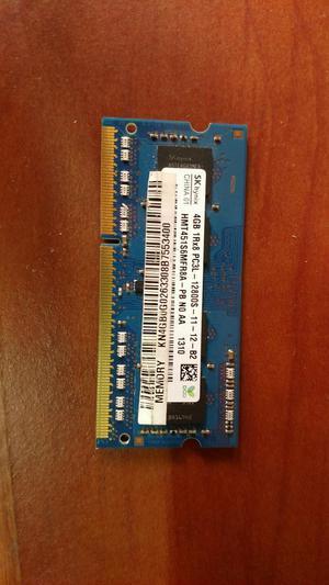Memoria Ram Ddr3L 4 Gb para Portatil