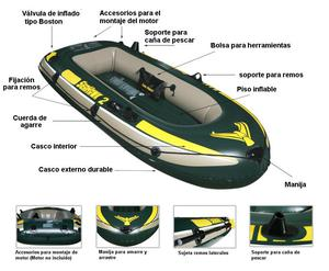 Bote inflable de remos SEAHAWN 2