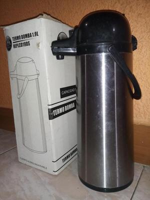 VENDO TERMO BOMBA EN ACERO INOXIDABLE 1.9 LITROS