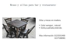 Mesas para restaurante y bar