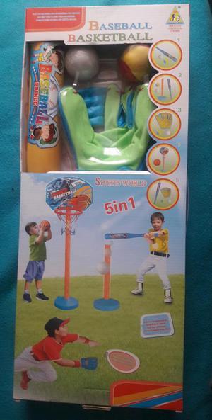 Juego de Beisbol y basketbol 5 EN 1