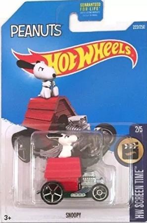 Carro Hotwheels de Colección Snopy Peanut  Escala 1/64