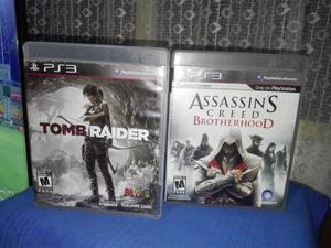 Combo Juegos PS3 !! TOM RIDER y ASSASSINS CREED BROTHERHOOD