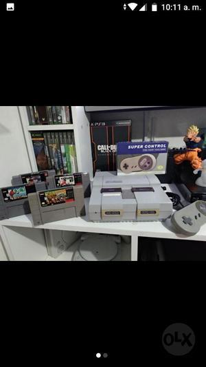Super Nintendo Snes 4 Juegos 2 Controles