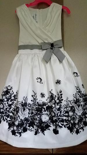 Vestido Elegante Niña Talla 6 Marca Americana Bonnie Jean