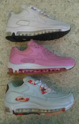 Zapatillas Nike Airmax 90 Mujer Cuero