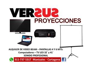 ALQUILER DE VIDEO BEAM PANTALLAS