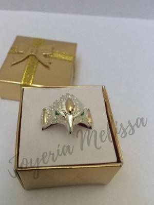 Anillo para caballero en plata 925 diseño Águila,