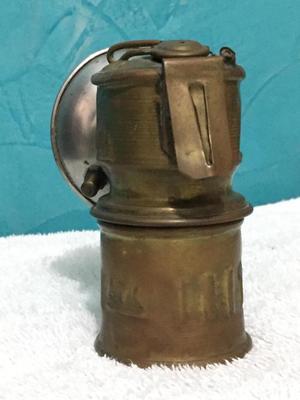 Lampara de minero en bronce