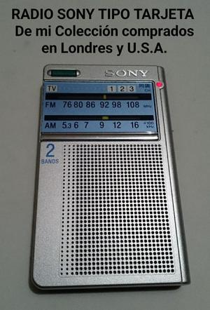 Radio Sony Icf Tipo Tarjeta Am Y Fm Vend