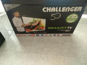 televisor led challenger de 32 pulgadas smart tv wifi tdt 2