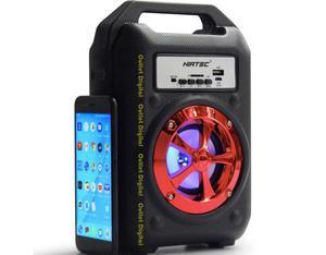Parlante Recargable Bluetooth Luces Usb MicroSd Portatil