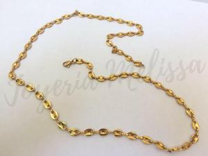 Cadena o collar para hombre tejido Gucci en acero dorado,