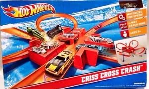 Hot Wheels Set Criss Cross Track Crash