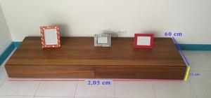 mueble para tv con 2 cajones