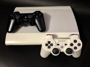 Ps3 Súper Slim Blanco 250gb 2 Controles The Last Of Us