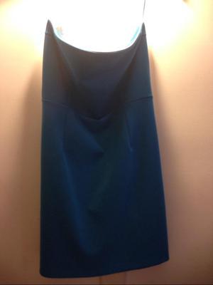 Vestido Zara Talla 10 Azul Straple