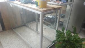 Vitrinas Vidrio aluminio 150 cms