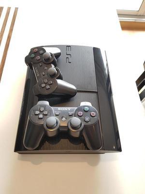 CONSOLA PS3 PLAY 3 USADO 2 CONTROLES 4 JUEGOS