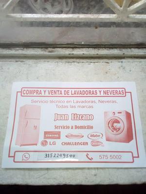 venta y compra de lavadoras y neveras dañadas
