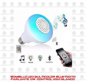 Bombillo Led Multicolor Bluetooth Parlante 12W