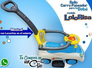 CARRO PASEADOR de Bebé LOLO RISAS, MUSICAL, Luces en el