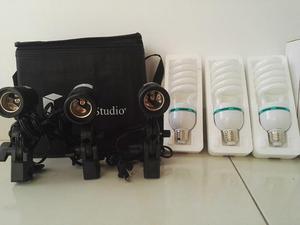 Kit iluminacion estudio 675w Soportes E27