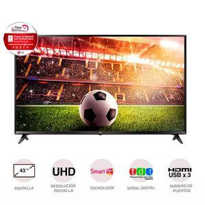 Televisor 43 Pulgadas Uhd 4K Smart Tv