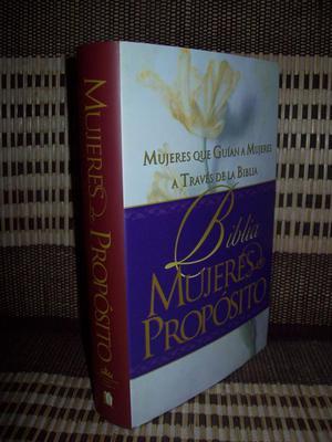 BIBLIA MUJERES DE PROPOSITO RVR , TAPA DURA