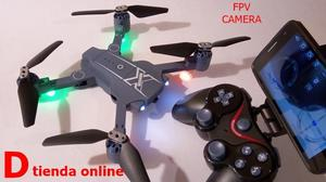Drone HC6 Cuadricoptero Dron plegable con Cámara WiFi HD de