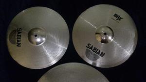 Set de platillos x2 Sabian B8X, hihat 14 y Crashride de 18