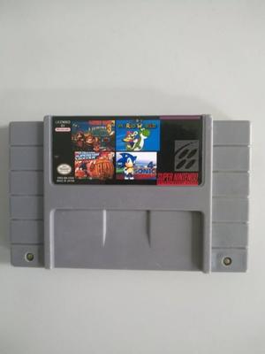 Multijuegos Para Super Nintendo Snes 4 En 1