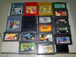 juegos gameboy pokemon, metroid, castlevania