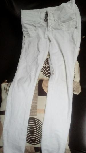 Pantalon Blanco Talla 6 a Solo