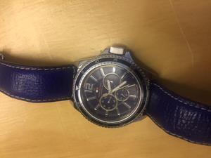 Reloj Tommy Hilfiger Manilla de Cuero azul standar Maquina