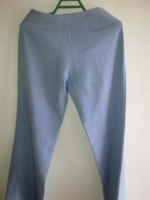 Pantalon formal en poliester azul para mujer talla 8