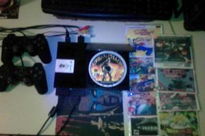 Play 2 Con Dos Controles 10 Juegos y Memoria de 8MB