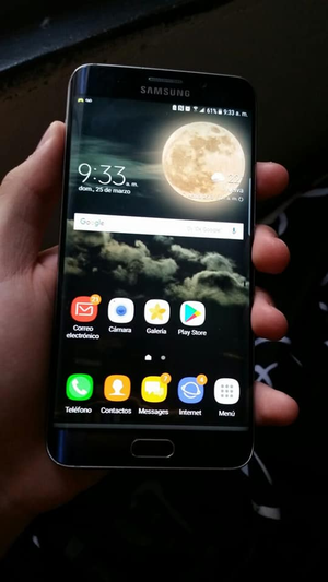Samsung galaxy azul oscuro S6 edge plus de 32 GB