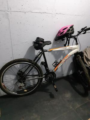 Bicicleta con Casco Y Candado
