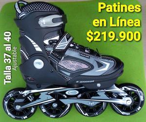 PATINES EN LINEA SEMIPRO AJUSTABLE 37A40