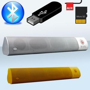 Parlante Recargable Bluetooth Usb Fm Tipo Barra Nuevos