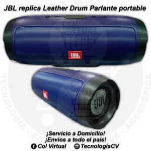 Parlante portable tipo JBL Leather Drum M10CV70 R