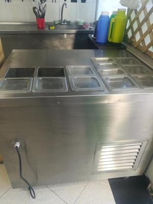 Meson en acero con estufa mixta y bogot posot class for Freidoras a gas medellin