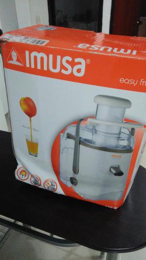 Extractor Jugos Imusa Easy Fruit Antigoteo 550W Nuevo Acero
