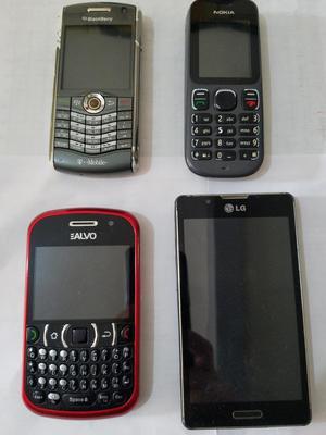 Vendo lote de 4 celulares para reparar o para repuestos
