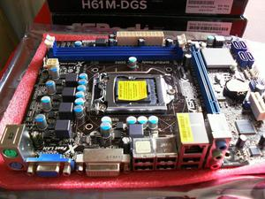 Combo Gamer Board H61M DGS CPU Intel IS 6GB RAM Muy