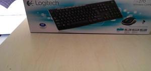 Combo Mouse Teclado Logitech Mk270 Negro