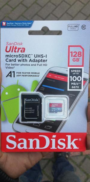 Micro Sd Sandisk 128gb Clase 10 Original