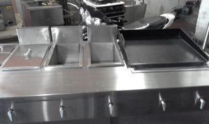 carros de comidas rapidas en acero inoxidable