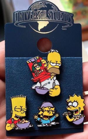 Los Simpsons breakfast Pin Set de Universal Studios